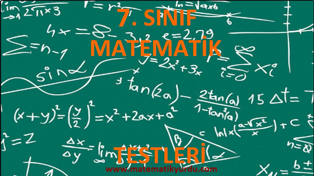 7 Sınıf Matematik Testleri