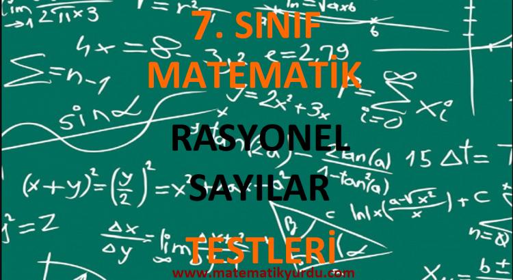 7. Sınıf Rasyonel Sayılar Testi