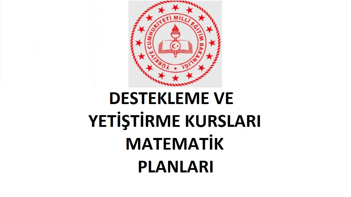 Destekleme ve Yetiştirme Kursu (DYK) Matematik Planı