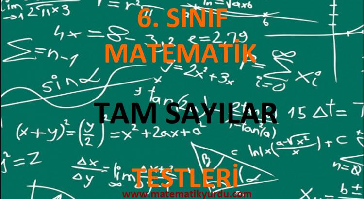 6. Sınıf Tam Sayılar Testi