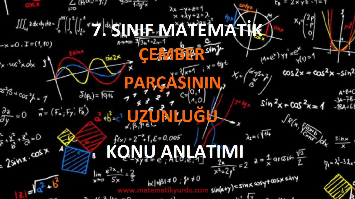 7. sınıf çember parçasının uzunluğu konu anlatımı pdf indir