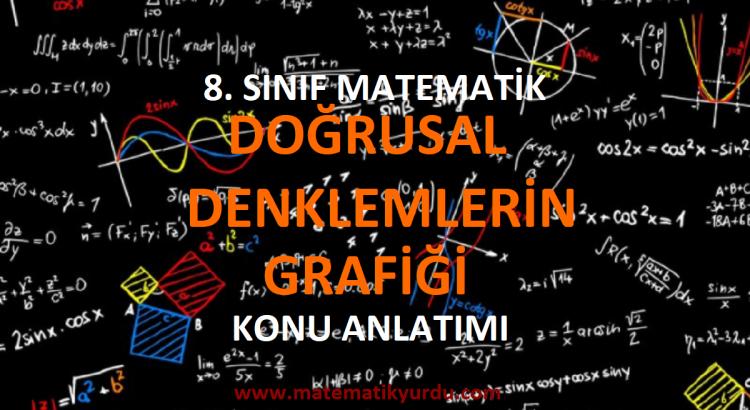 8. Sınıf Doğrusal Denklemlerin Grafiği Konu Anlatımı