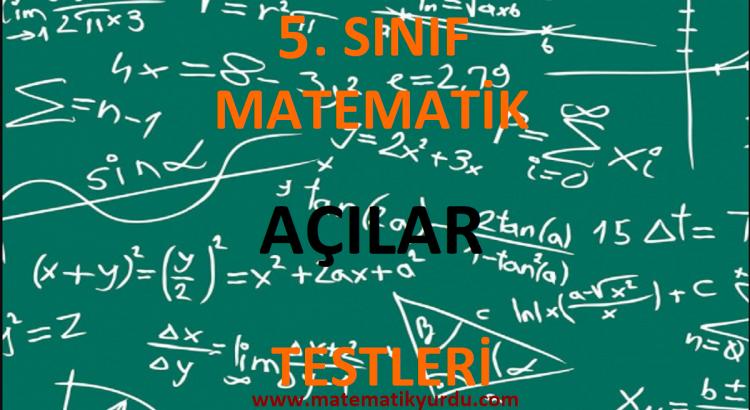 5. Sınıf Açılar Testi