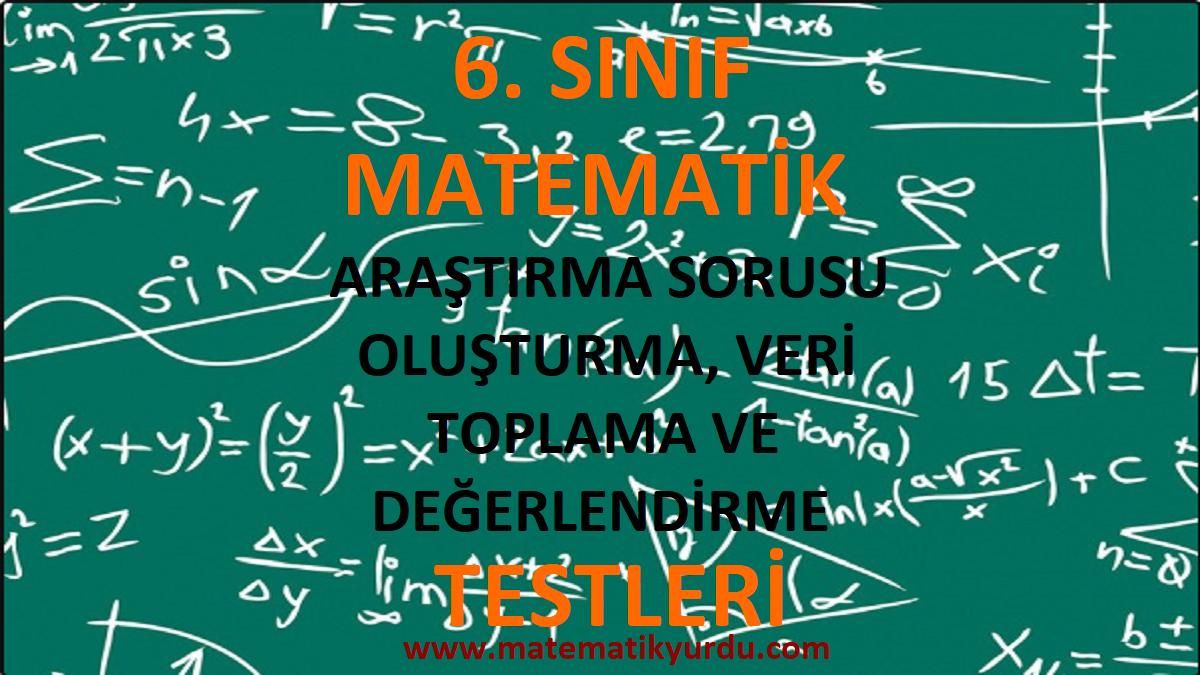 6. Sınıf Araştırma Sorusu Oluşturma Veri Toplama ve Değerlendirme Testi