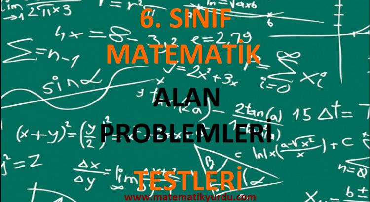6. Sınıf Alan Problemleri Testi