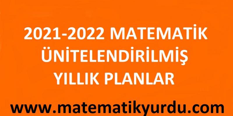 2021 - 2022 Matematik Yıllık Planlar